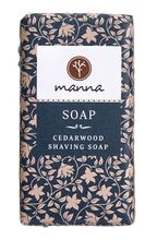 MANNA Cedarwood Shaving Soap Mydło w kostce do golenia 90g