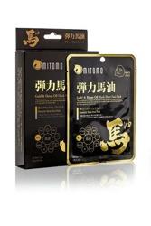 MITOMO maska PREMIUM Gold&Horse Oil black sheet Czarna maska ze złotem i olejem końskim 25g