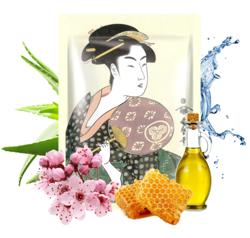 MITOMO maska UKIYO-E Mleczko Pszcz+Kwiat Wiśni 25g