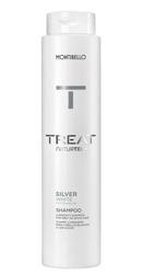MONTIBELLO TREAT Naturtech Silver White Szampon niwelujący żółte tony na włosach siwych 300ml