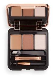 Makeup Revolution Brow Sculpt Kit Paleta do stylizacji brwi medium brown 2,2g