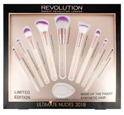 Makeup Revolution Iconic Nudes Brush Collection 2018 Zestaw 9 pędzli + Silicone Sponage