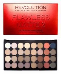 Makeup Revolution Ultra 32 Eyeshadow Flawless Matte 2- Paleta 32 matowych cieni do powiek