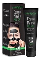Marion Maska Czarna Peel-Off z aktywnym węglem 25g