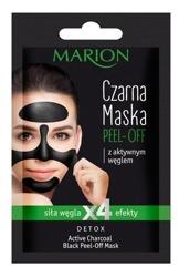 Marion Maska Czarna Peel-Off z aktywnym węglem