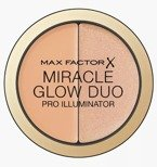 Max Factor MIRACLE GLOW DUO Pro Illuminator Kremowy rozświetlacz i korektor do twarzy 20 Medium 11g
