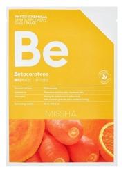 Missha Phyto-Chemical Sheet Mask BE Betacarotene Maseczka do twarzy w płachcie