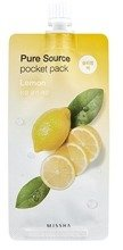 Missha Pure Source Pocket Pack LEMON Rozjaśniająca maseczka na noc 10ml
