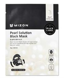 Mizon Black Mask Sea Pearl Solution Rozświetlająca maska w płacie 25g
