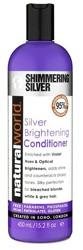 Natural World Shimmering Silver Conditioner Odżywka do włosów blond i siwych 450ml