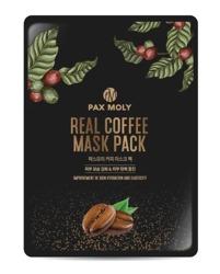 PAX MOLY Real Coffee Mask Pack Odmładzająco-rozświetlająca maska w płachcie z ekstraktem z kawy 25ml