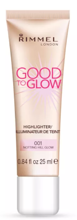 Rimmel Good To Glow Highlighter 001 Notting Hill Glow Rozświetlacz do twarzy  25ml