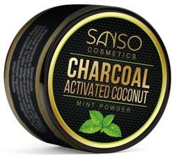 SANSO Charcoal Mint Powder Sproszkowany węgiel kokosowy 30g