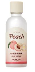 SKINFOOD Peach cotton toner Normalizujący tonik do twarzy 180ml
