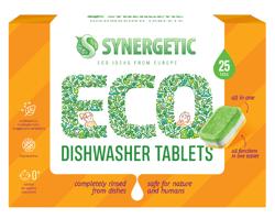SYNERGETIC Dishwasher Tablets Biodegradowalne tabletki do zmywarki 25szt