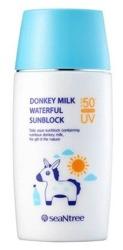 SeaNtree Donkey Milk Waterful Sunblock SPF50+ Wielofunkcyjny krem przeciwsłoneczny 50ml