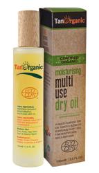 TAN ORGANIC Moisturising Multi Use Dry Oil Nawilżający, suchy olejek do twarzy i ciała 100ml