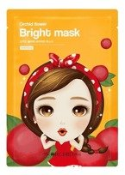 The Orchid Skin Orchid Flower Bright Mask Rozjaśniająca maska w płachcie