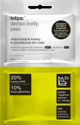 Tołpa Dermo Body Peel Złuszczające kwasy w chusteczce do ciała 2 szt