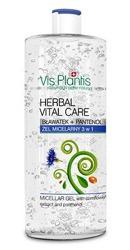 Vis Plantis Herbal Vital Care - Żel micelarny 3 w1 bławatek i pantenol 500 ml