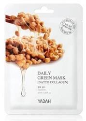 YADAH Daily Green Mask Natto Collagen Ujędrniająca maska z kolagenem roślinnym 25ml