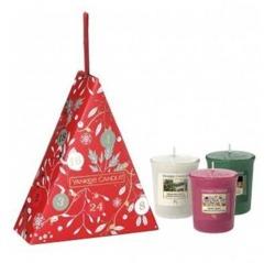 Yankee Candle Countdown To Christmas Zestaw prezentowy 3 świece votive