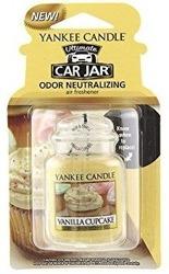 Yankee Candle car jar Ultimate  - Odświeżacz samochodowy Zawieszka słoik Vanilla Cupcake 1szt.