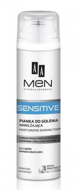 AA MEN Sensitive pianka do golenia 250ml