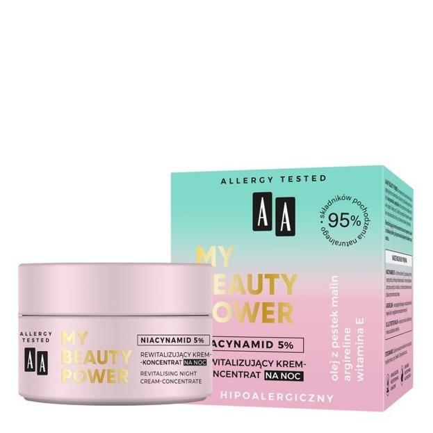 AA My Beauty Power Niacynamid 5% Rewitalizujący krem-koncentrat na Noc 50ml