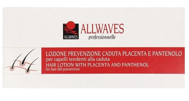 Allwaves Placenta Lotion przeciw wypadaniu włosów w kapsułkach 12x10ml
