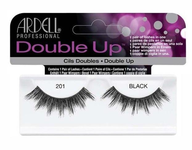 Ardell Double Up 201 Black - Sztuczne rzęsy czarne 1 para