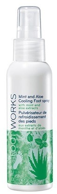 Avon FOOT WORKS Odświeżający dezodorant do stóp z miętą i aloesem 100ml