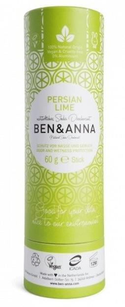 BEN&ANNA Naturalny dezodorant w sztyfcie PERSIAN LIME 60g