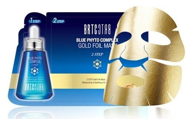 BRTC Blue Phyto Complex Gold Foil Mask - Ekskluzywna dwuetapowa złota maska - Intensywne nawilżenie i ukojenie