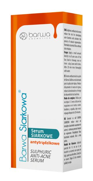 Barwa Siarkowa Serum siarkowe antytrądzikowe 15ml