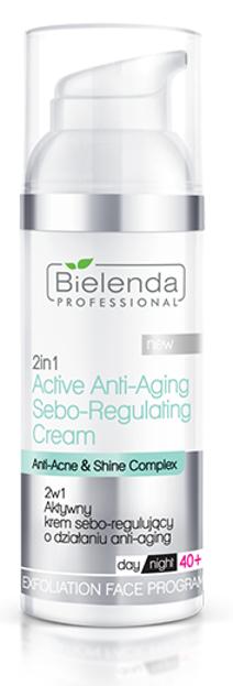 Bielenda Professional Aktywny krem sebo-regulujący o działaniu anti-aging+40 2w1 50ml