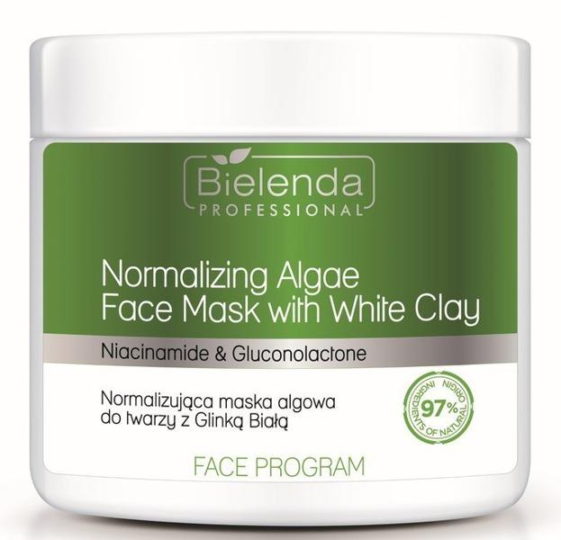 Bielenda Professional Normalizująca maska algowa do twarzy z białą glinką 160g