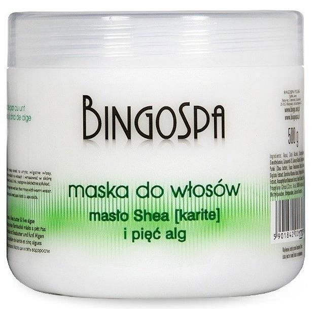 BingoSpa Maska do włosów Masło Shea i pięć alg 500g