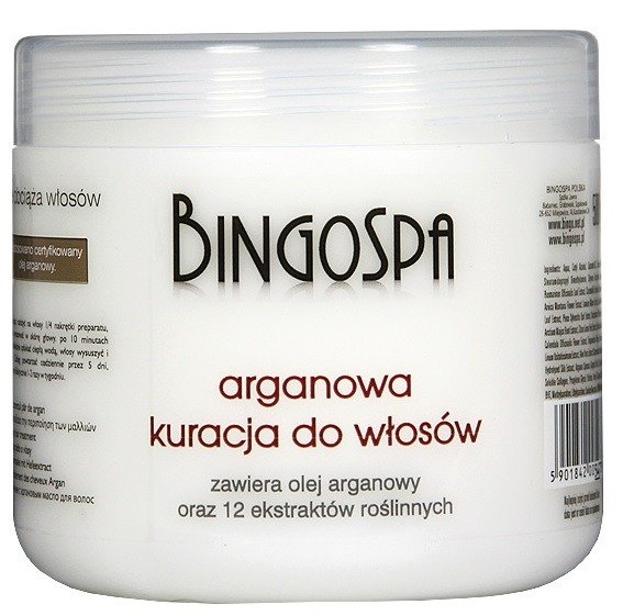 Bingospa Arganowa kuracja do włosów 500g