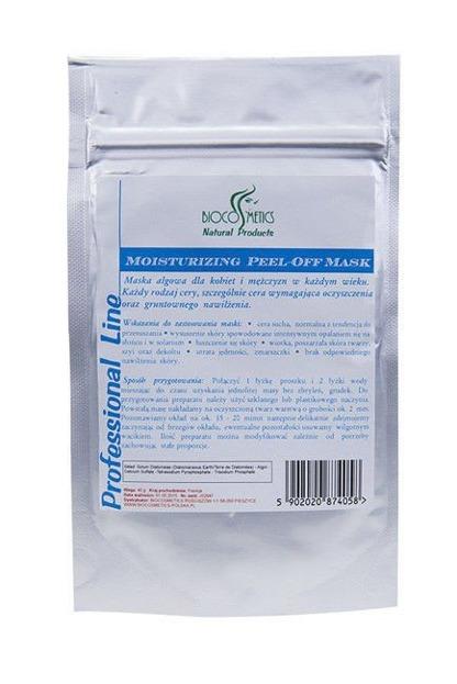 Biocosmetics- Maska algowa nawilżająca do cery wymagającej gruntownego nawilżenia i oczyszczenia, 40g