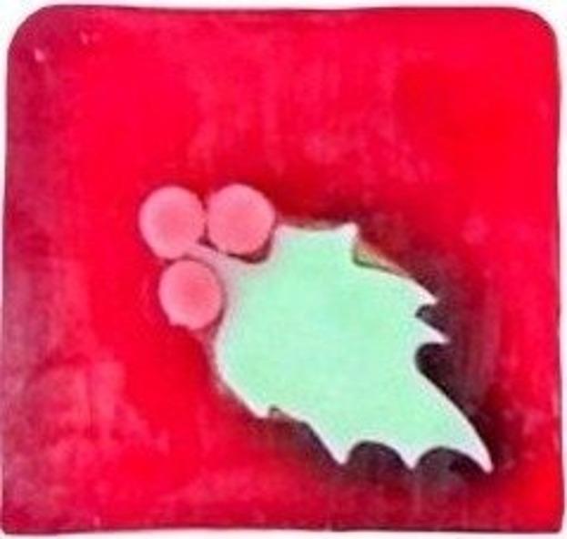 CosmoSpa Mydło glicerynowe wersja świąteczna o zapachu ostrokrzewu 100g