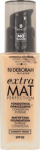 Deborah Podkład do twarzy Extra Mat Perfection 0 Fair Rose