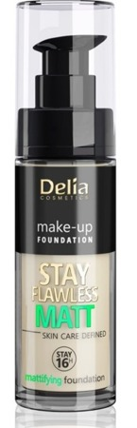 Delia STAY FLAWLESS MATT SKIN DEFINED 16H Podkład matujący 401 30ml