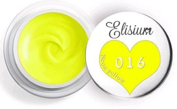 Elisium UV Gel Elisium UV Gel 016 Neon Yellow 5ml Farba żelowa do zdobień