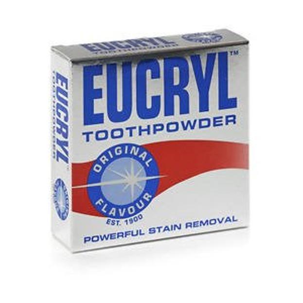 Eucryl Toothpowder Original Flavour - Puder do zębów usuwający przebarwienia, 50 g