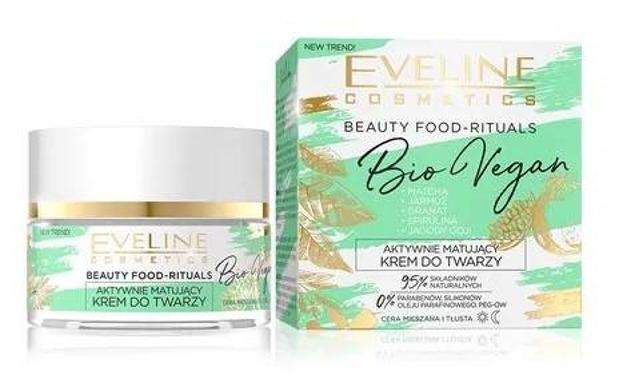 Eveline BioVegan Aktywnie matujący krem do twarzy 50ml