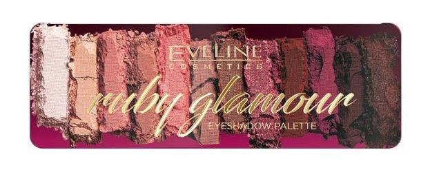 Eveline RUBY GLAMOUR Paleta cieni do powiek 12g