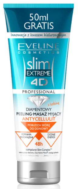 Eveline Slim Extreme 4D Peeling-Masaż myjący Antycellulit 250ml