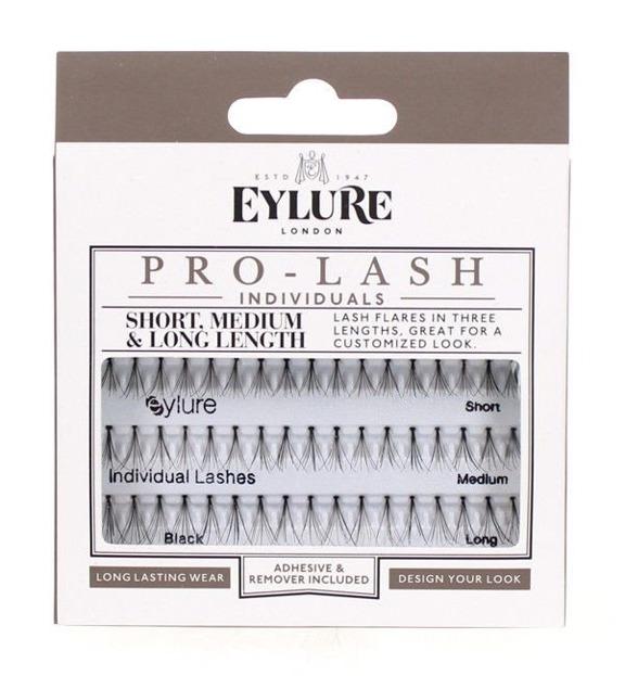Eylure Pro-Lash Individuals - Sztuczne rzęsy w kępkach czarne