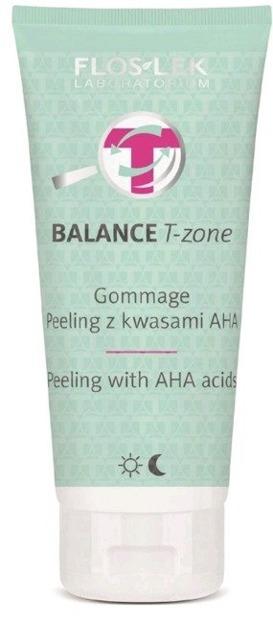 FLOSLEK Balance T-zone Gommage peeling z kwasami AHA 125g